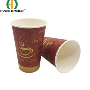 Biodegradáveis de 4oz/8oz/12oz/16oz o logotipo personalizado Hot descartáveis beber chá e café xícara de papel