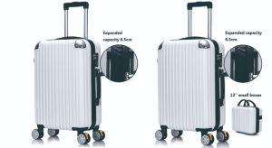 Carrito de la moda de equipaje extendida cremallera Juego de maletas Trolley ABS