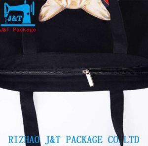 Logotipo do grossista barato promocionais Imprimir tecido durável Reciclar Calico Orgânicos Lona de Algodão Personalizada Saco Sacola de Compras