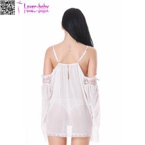 Lenceria Sexy babydoll See-Through blanco para las mujeres L28220-2