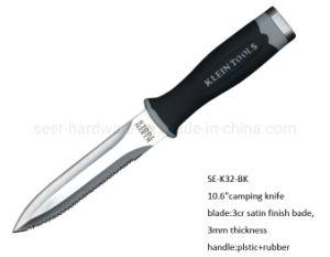 "10.6"" 3CR-кемпинг из нержавеющей стали с помощью ножа TPR рукоятку (SE-K32-BK)"