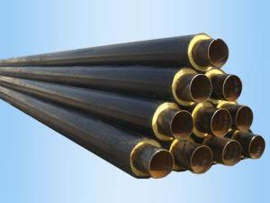 Felsen-Wolle-/Faser-Glas-Thermalisolierungs-Material-gefüllte Dampf-Stahlrohr-Isolierung