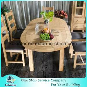 Расширяемый обеденный стол из дуба в таблице