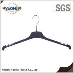 Gancho de plástico preto de moda com o gancho de metal para pano (40cm)