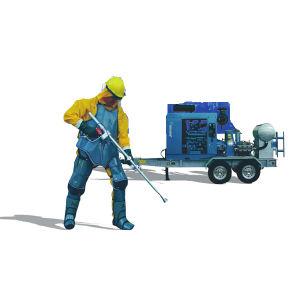 15000psi van de Diesel (van 1000bar) Machine van het Uitwerpen van het Water Hoge druk van de Eenheid de Super