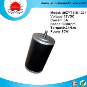 12VDC 0.24n. M 75W 3000rpm de motor DC eléctrico