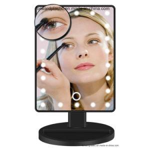 BSCI, CMA, Sqp, Wal-Mart certifié en usine, miroir de courtoisie à LED avec 22 voyants DEL et écran tactile de la gradation