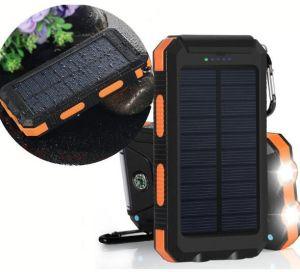 20000mAhは懐中電燈のコンパスのトーチが付いている太陽懐中電燈のトーチの携帯電話力バンクを防水する