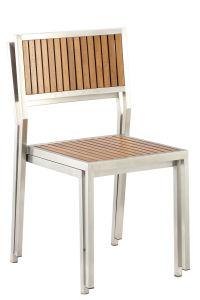 En acier inoxydable de jardin en bois de teck définit les meubles de patio Président Table