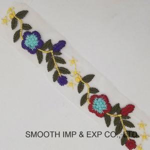 3D de la moda Encaje Floral Multicolor Embrodiery fresado textiles tejidos de encaje