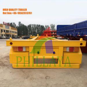 Recipiente Tri-Axles Transporter semi reboque esquelético com bloqueio de contentores