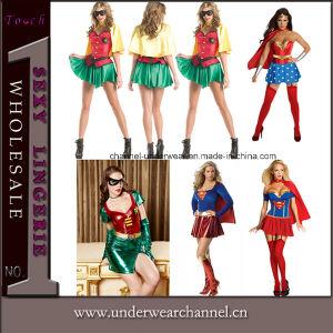 Commerce de gros costume de super héros des femmes parti (cuillerée à soupe315)