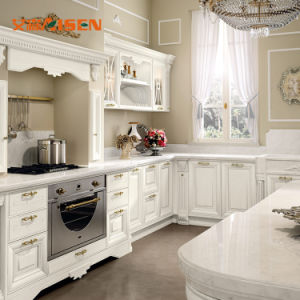 De moderne Witte MDF Kast van de Keukenkast van het Karkas van de Melamine Houten