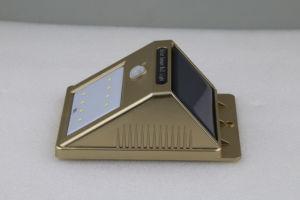 Hohes-Quaity menschliches Schwarz-goldenes weißes Solarwand-Licht der Induktions-8LED