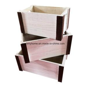 Mercado rústicos de madeira de empilhamento de madeira de empilhamento de exibição Ripados Engradado de armazenamento