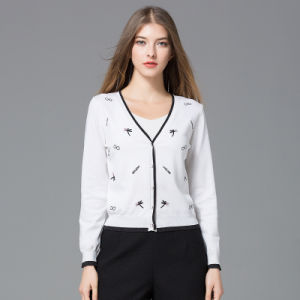 avec gros bouton couleur avec 2018 PrintempsAutomne enduire Cardigan Mesdames en Nouveau pullover tricot xUZv6B