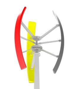 3kw 160rpm 220Vの格子システムのための縦の軸線の風力