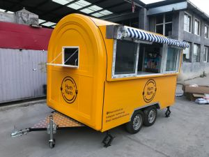 Fabrik-Zubehör-Fiberglas-Eiscreme-Karren-Getränk-Nahrungsmittelkarre mit Großhandelspreis