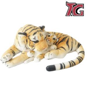 60cm de la madre y bebé tigre de peluche juguete de los animales de peluche