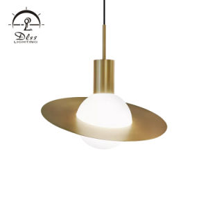 Высококачественный медный шар стекло тени LED люстра подвесной светильник