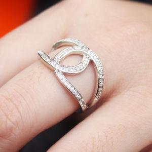 Wholesales Bisutería18K anillo chapado en oro de la mujer en latón