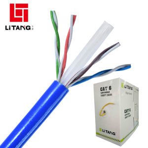 De Drievoudige/Vierling Beschermde CAT6 LAN van UTP Openlucht van de Begrafenis Kabel van de fabriek