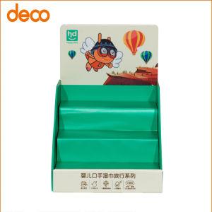 Commerce de détail Affichage du compteur d'étagère en carton ondulé pour les produits Babycare
