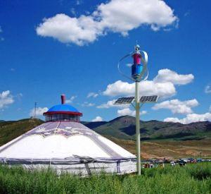 De verticale Turbines van de Wind van de As & Wind - Zonne Hybride Straatlantaarns
