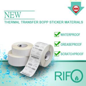 바코드 인쇄 기계를 위한 편평한 BOPP 물자가 열 이동에 의하여 레테르를 붙인다
