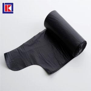 제조자 LDPE/HDPE 롤에 주문 부엌 동점 손잡이 쓰레기 봉지