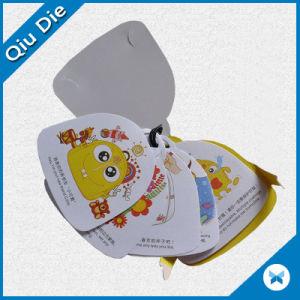 Impreso de alta calidad papel de la etiqueta etiqueta para colgar ropa/prenda