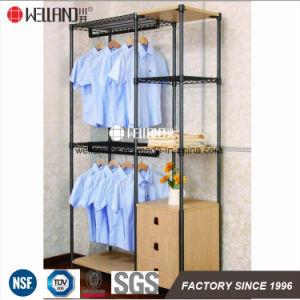 China Fabricación DIY Salón Mostrar Steel-Wooden mobiliario estanterias Rack