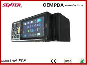 O Senter St907V7.0 4 POLEGADAS PDA Industrial Android 3G 1D/2D do scanner de código de barras/ Lf Hf Leitor RFID UHF/Fingerprint/Impressora/Tipo Pistola 4 Core Wireless WiFi GPS BT IP65