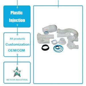 Molde de inyección de plástico personalizada productos piezas industriales codo adaptador de tubo de plástico