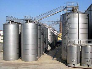 La industria química del depósito de la reacción de acero inoxidable