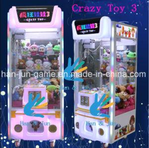 O louco jogo da grua 3 brinquedos brinquedos da máquina máquina de jogos de arcada