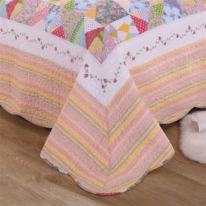 100% хлопок одеяла печать машинная стирка покрывалами