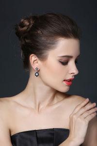 925 prata esterlina Moda Zircon cúbicos brincos belas jóias