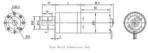 GMP42-TEC4260 eléctrico 24V DC motor sin escobillas, DC, motor de engranajes