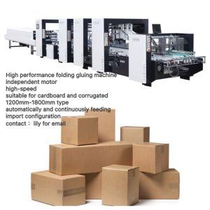 Flexo Carpeta Gluer Caja de cartón (GK-1600PC).