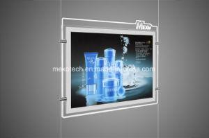 Кристально чистый звук акриловый рекламы магнитное поле Светодиодный индикатор с выгравированными логотип