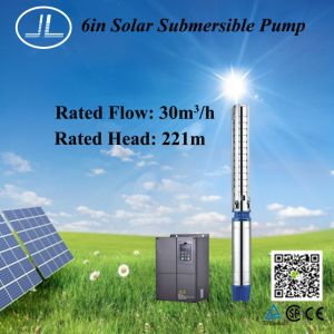 26KW 6 дюйма из нержавеющей стали солнечной энергии на полупогружном судне насоса очистите водяной насос