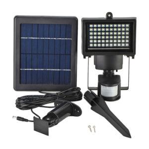 60のLEDの太陽動力を与えられた機密保護ライト動きセンサーLEDの洪水ライトランプの壁に取り付けられた非常灯