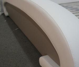 Cama de couro branco moderno para Mobiliário de quarto em casa (HC378)