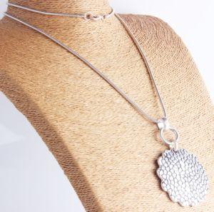 Grote Anti Zilveren van de manier Gehamerd om Halsband