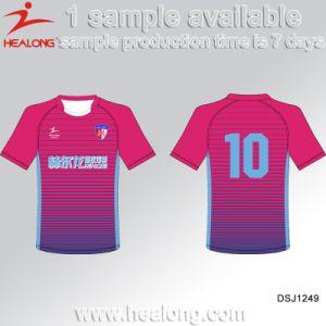 Healong Diseño fresco engranaje de la ropa deportiva camisetas de fútbol de  la impresión de transferencia de calor 8fc926ff1a65c