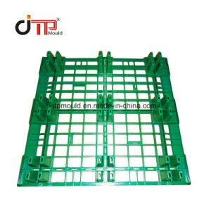 9 Pés empilhável Deck único molde de paletes de plástico