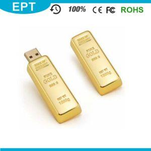 Металлические трубки Золотой Бар Форма логотипа USB-диск (EM540)