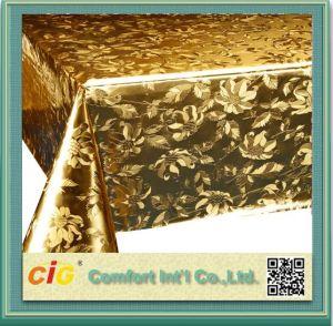 Het moderne Tafelkleed van pvc van de Kleur van het Ontwerp Gouden die in China wordt gemaakt