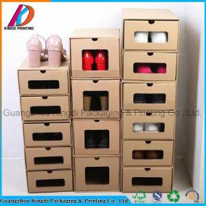 Складные гофрированный картон обувь в салоне с окошком для систем хранения данных